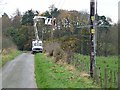 NY8263 : Installing a new electricity transmission line. by Oliver Dixon