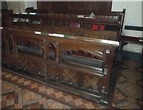 TQ4210 : St Thomas a Becket, Cliffe: choir stalls by Basher Eyre