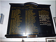 TQ4210 : St Thomas a Becket, Cliffe: incumbency board by Basher Eyre