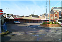 SS8591 : Southern side of Maesteg Bus Station by Jaggery