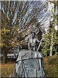 TQ1649 : Sculpture in Dorking High Street by Paul Gillett