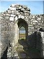 NX4895 : Postern doorway, Loch Doon Castle by Humphrey Bolton