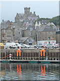 HU4741 : Lerwick: the Town Hall from across the harbour by Chris Downer