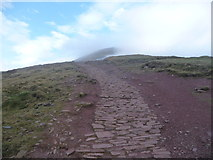 SO0121 : Stone path up Pen y Fan by Jeremy Bolwell
