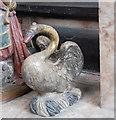 SP2512 : Swan on Tanfield tomb, Burford church by Julian P Guffogg