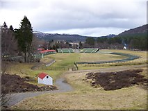 NO1491 : Memorial Park - home of the Braemar Highland Games by Elliott Simpson