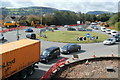 ST1487 : Slow-moving traffic on the A468, Caerphilly by Jaggery