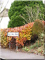 TM1570 : Bullshall Road sign by Adrian Cable