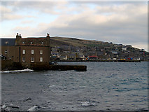HY2508 : House and slipway beside Stromness Harbour by John Lucas