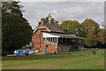 TL1507 : Cricket pavilion, Clarence Park by Ian Capper