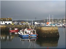 SW8132 : Fishing boats moored in Falmouth harbour by Rod Allday