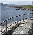 HU4523 : Broch of Mousa - The view from the top by Rob Farrow