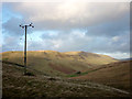 SD6581 : Power line above Barbondale by Karl and Ali