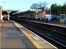 SO9322 : Platform 2, Cheltenham Spa railway station by Jaggery