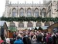 ST7564 : Bath Abbey & Christmas Market by Roy Hughes