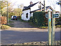 TM2176 : Footpath to Vicarage Road & entrance to Dower Cottage by Adrian Cable