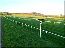ST5295 : Four furlong post, Chepstow Racecourse by Jaggery