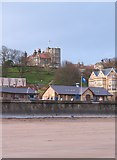 TA1280 : Filey sands and sea front by Gordon Hatton