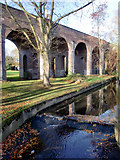 TQ2992 : Viaduct, Arnos Park, London N11 by Christine Matthews