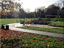 TQ2992 : Playground, Arnos Park, London N11 by Christine Matthews