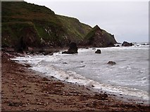 X2580 : Cliffs at Ballymacart Cove - looking east by ethics girl