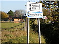 TM2773 : Roadsign at the B1116 junction by Adrian Cable