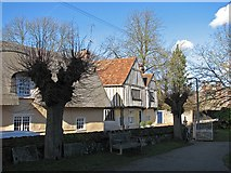 TL5646 : Linton: winter view from the churchyard by John Sutton