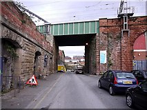 NZ2463 : Railway Bridge over Pottery Lane by Andrew Curtis