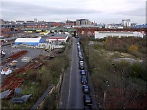 NZ2463 : Pottery Lane from Redheugh Bridge by Andrew Curtis