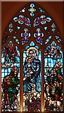 TQ2678 : St Mary, The Boltons, Brompton West - Stained glass window by John Salmon