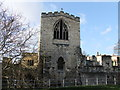 SK9771 : The 19th century chapel built on the ruins of Lincoln Medieval Bishops' Palace by PAUL FARMER