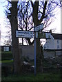 TM2475 : Roadsign on Pixey Green by Adrian Cable