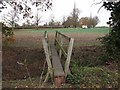 TL4962 : Narrow footbridge by John Sutton