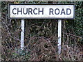 TM2277 : Church Road sign by Adrian Cable