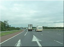 NY3366 : Approaching junction 45 on the M6 northbound by Ann Cook