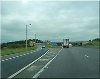 NY3366 : Junction 45 on the M6, northbound by Ann Cook