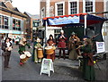 TR1457 : Musicians in Rose Square, Canterbury by pam fray