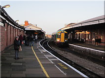 SO8455 : Worcester Foregate Street Station - Damp December by Roy Hughes