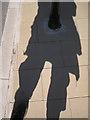 SX9372 : Base of bollard inserted in paving, Riverside by Robin Stott