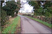 SJ7933 : Bridge over a small stream near Whittington by Mick Malpass