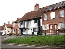 TM1763 : Timberframed cottage in The Street, Debenham by Evelyn Simak