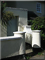 SX9272 : Gate pillars and flank walls, Strand House by Robin Stott