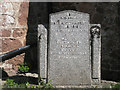 SX9272 : Champion family memorial, St Nicholas's church, Ringmore: 1 by Robin Stott