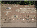 SX9272 : Decorated parking space, Ringmore by Robin Stott