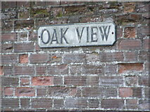 TM3569 : Oak View sign by Geographer