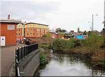 SO8376 : River Stour near Corporation Street, Kidderminster by P L Chadwick