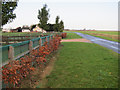 TL5691 : New entrance to Dilamore Hill Farm by Hugh Venables