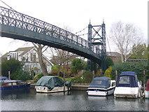 TQ1667 : Thames Ditton Island Footbridge by Colin Smith