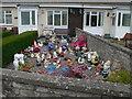 SN5167 : Easy-care front garden at Llansantffraed by Eirian Evans
