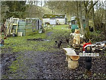 NY9393 : Small holding and wood carving business near Elsdon Old Bridge by Andrew Curtis